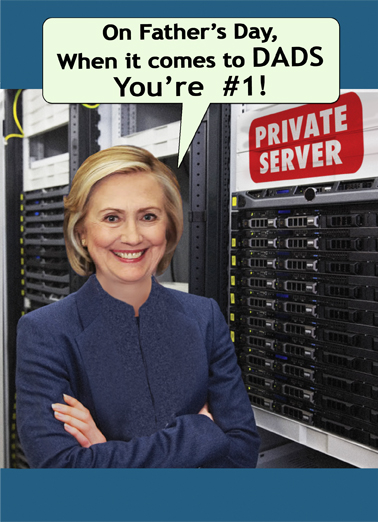 Hillary's Server Father's Day Card Cover