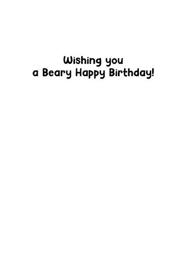 Hold My Bear Birthday Card Inside