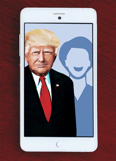 Holiday Trump Selfie Funny Political Ecard Cover