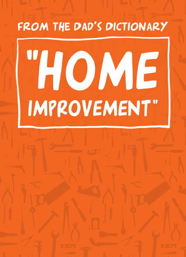 Home Improvement Father's Day Card Cover