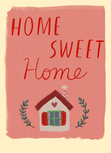 Home Sweet Home Congratulations Card Cover