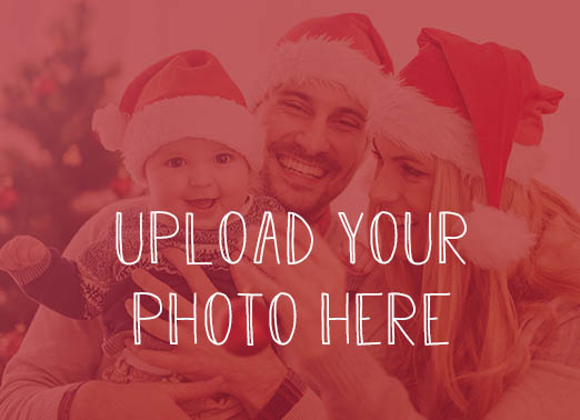 Horizontal Christmas Upload Christmas Card Cover