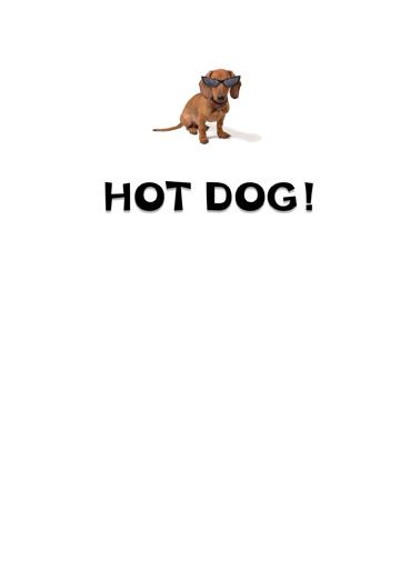 Hot Dog Dad Funny Animals Ecard Inside