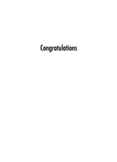 House Congratulations Card Inside