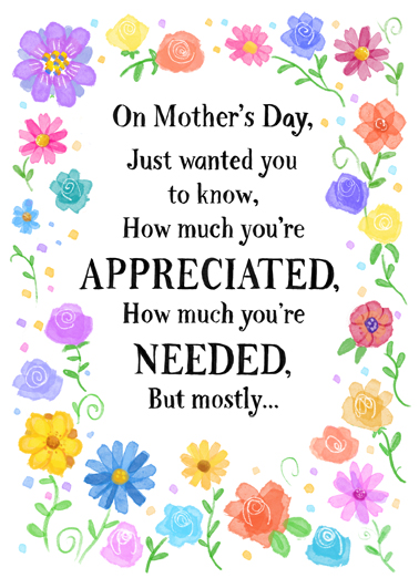 How Much You're Loved MD Mother's Day Card Cover