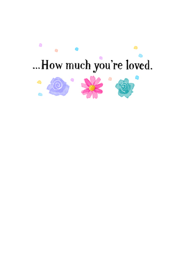 How Much You're Loved MD Mother's Day Card Inside