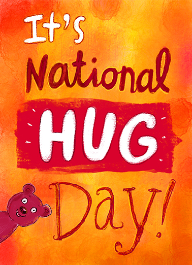Hug Day Miss You Ecard Cover