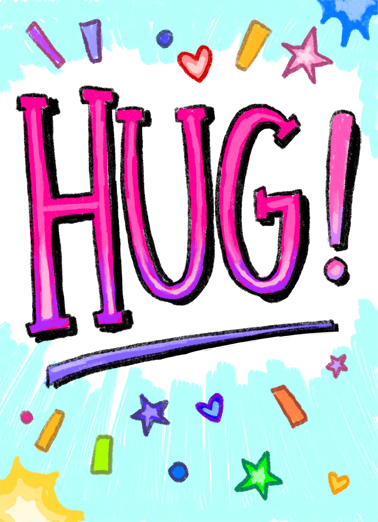 Hug From Me Birthday Ecard Cover