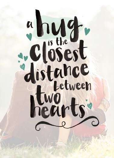 Hug closest Distance HUG DAY National Hug Day Ecard Cover