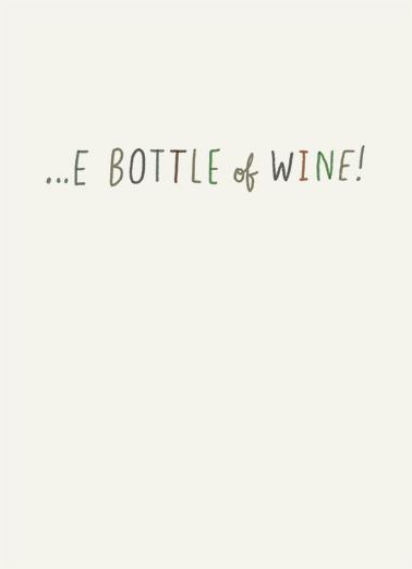 Huge Bottle Wine Ecard Inside
