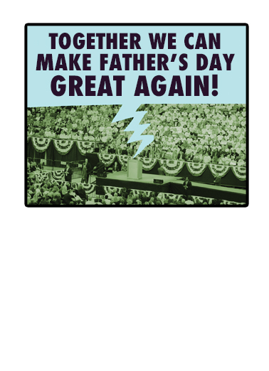 Huge Father's Day  Card Inside