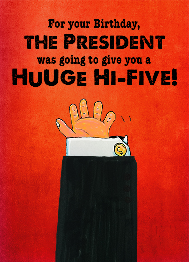 Huge High Five Birthday Card Cover