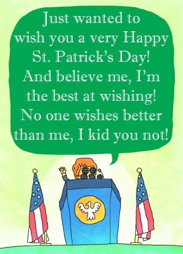 Huge Wishes (SPD) Funny Political Ecard Cover