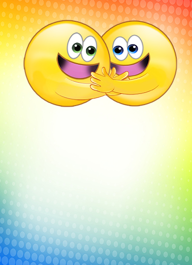 Hugging Emojis National Hug Day Ecard Cover