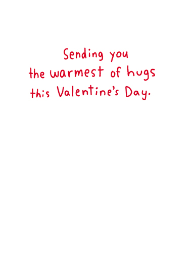 Hugging Penguins Valentine's Day Card Inside