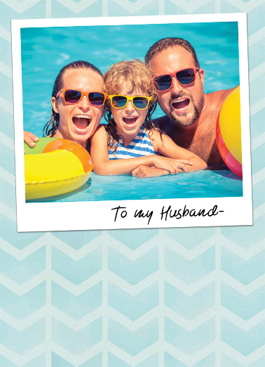 Husband Attached Photo FD Father's Day Card Cover