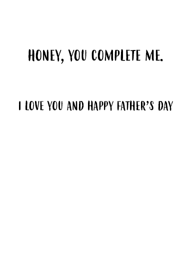 Husband Selfie Father's Day Card Inside