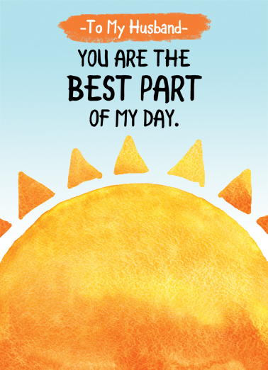 Husband Sun Best Day FD Father's Day Card Cover