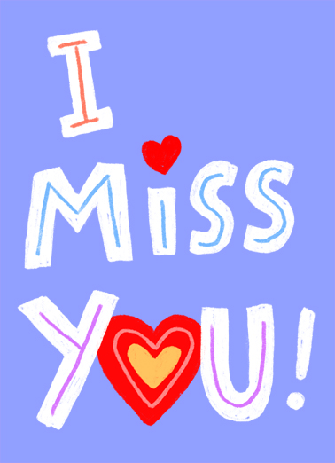 I Miss You BDAY Birthday Card Cover