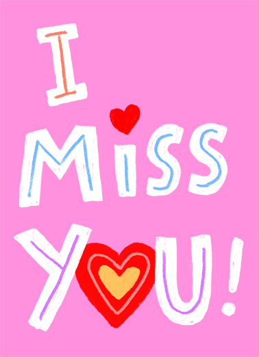 I Miss You VAL Valentine's Day Card Cover