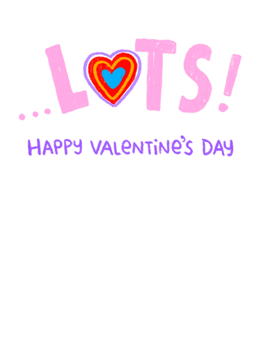 I Miss You VAL Valentine's Day Card Inside