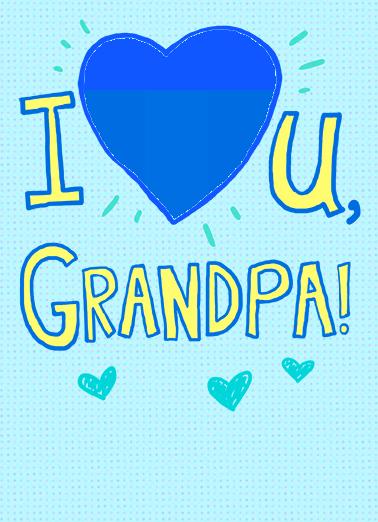 I heart grandpa FD Father's Day Card Cover