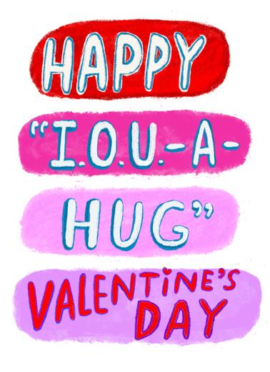 IOU Valentine Valentine's Day Card Cover