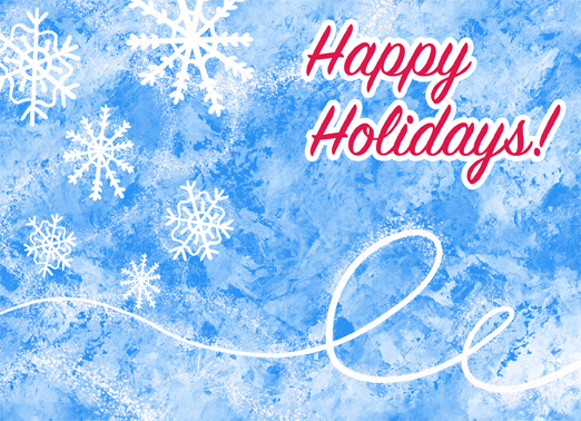 Icy Happy Holidays Christmas Ecard Cover