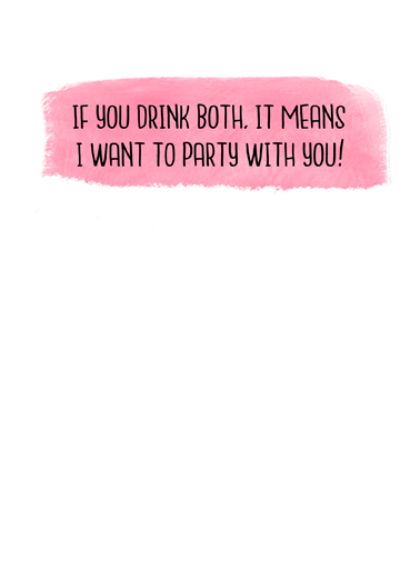 If You Drink VAL Valentine's Day Ecard Inside