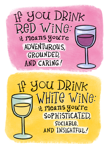 If You Drink Wine Ecard Cover