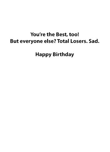 Impeached Twice Birthday Card Inside