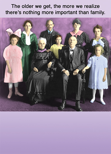 Important Family Young at Heart Ecard Cover
