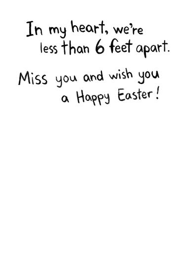 In My Heart Easter Easter Card Inside