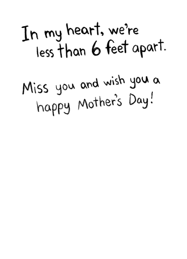 In My Heart MD Mother's Day Ecard Inside