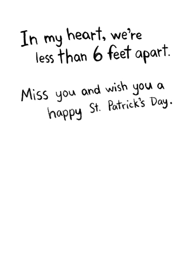 In My Heart PAT St. Patrick's Day Card Inside