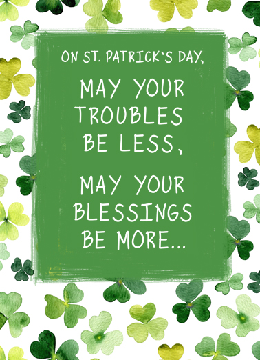 Irish Blessing St. Patrick's Day Card Cover
