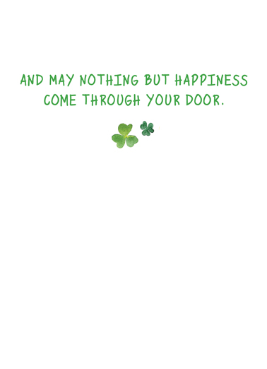 Irish Blessing St. Patrick's Day Card Inside