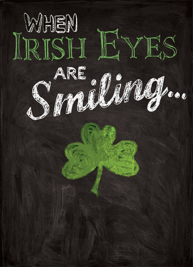 Irish Eyes Smiling St. Patrick's Day Card Cover