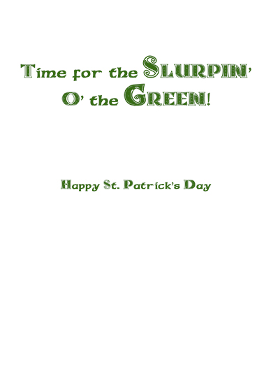 Irish Lass St. Patrick's Day Card Inside