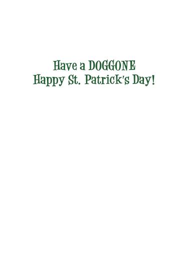 Irish Setter St. Patrick's Day Ecard Inside