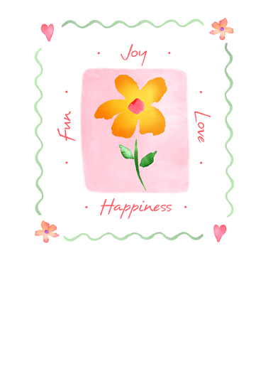 Joy Flower One from the Heart Card Cover
