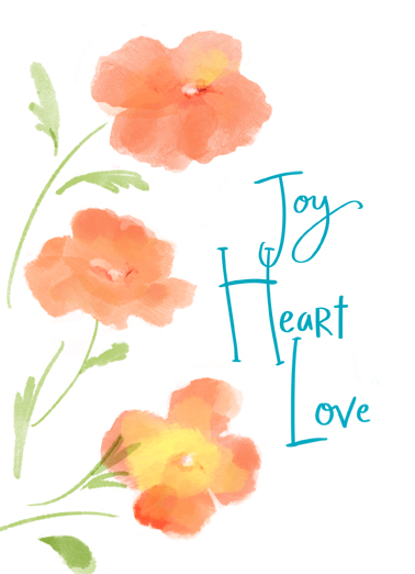 Joy Heart One from the Heart Card Cover