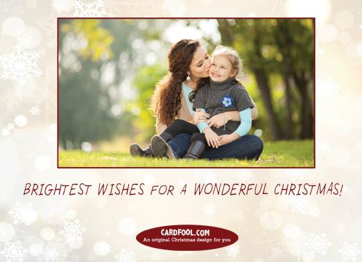 Joy Tree Christmas Card Inside