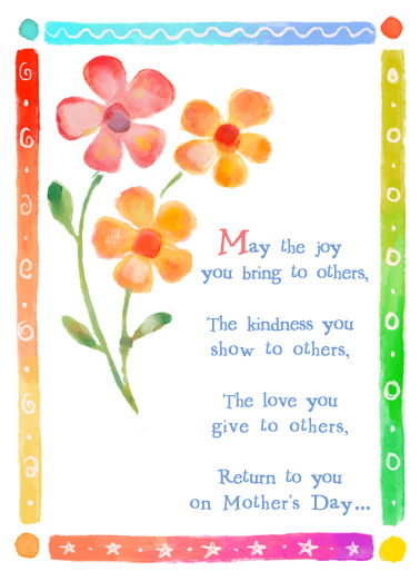Joy You Bring MD Mother's Day Card Cover