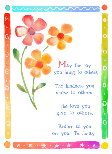 Joy You Bring One from the Heart Ecard Cover