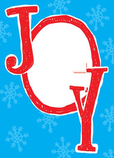 Joy Christmas Card Cover