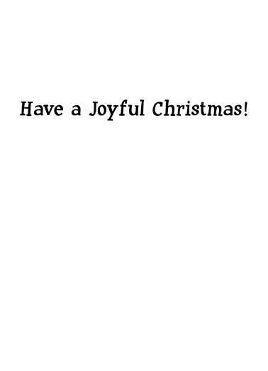 Joy Christmas Card Inside