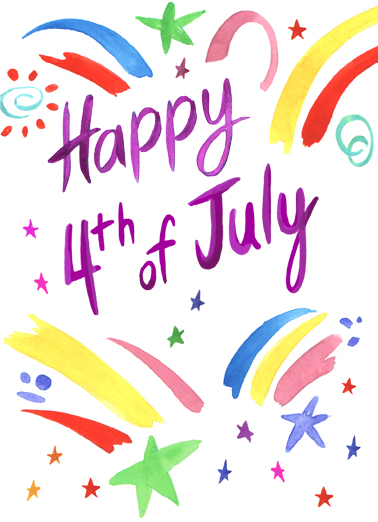 July 4th Burst For Family Ecard Cover