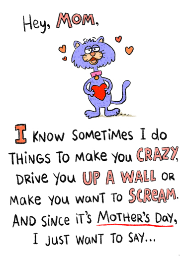 Just Sometimes MDAY Mother's Day Card Cover