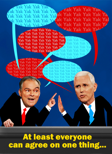 Kaine and Pence Debate Hillary Clinton Ecard Cover